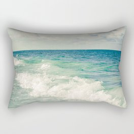 Tropical Beach Bliss Rectangular Pillow