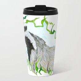 European Badger Watercolor Travel Mug