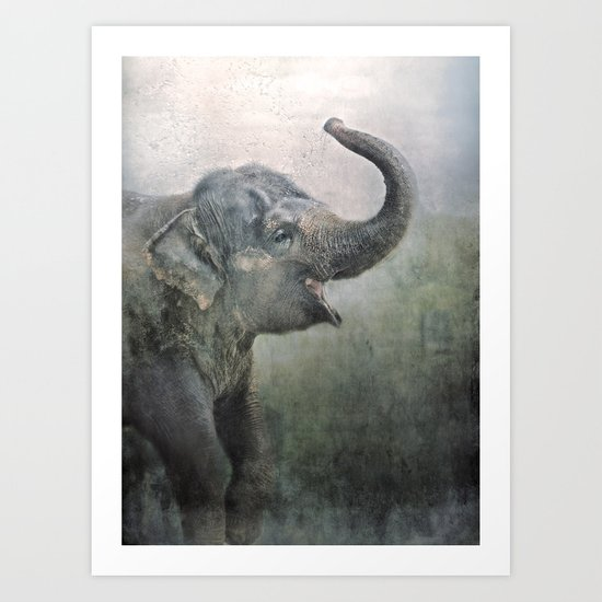 Happy Elephant! Art Print