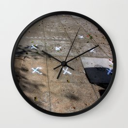 X Marks The Spots Wall Clock