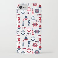 navy iPhone & iPod Cases featuring Navy by Valmo. Surface pattern design by Valeria