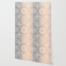 Gold Bronze Mandala Pattern Illustration Wallpaper