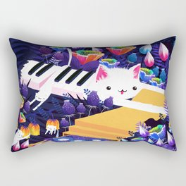 Piano Cat in the Forest Rectangular Pillow