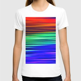 Rainbow Christmas Lights Light Painting T-shirt
