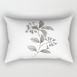 Lilac Ink Sketch Rectangular Pillow