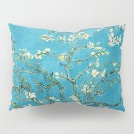Vincent van Gogh Blossoming Almond Tree (Almond Blossoms) Light Blue Pillow Sham