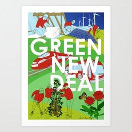 Green New Deal Art Print