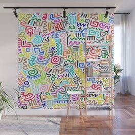 Doodle Pattern II Keith Haring Wall Mural
