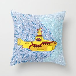 My Yellow Submarine Throw Pillow