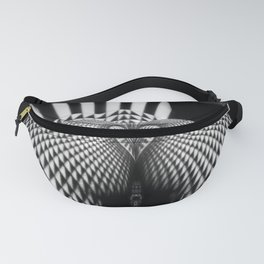 0364- Nude Female Geometric Black White Naked Body Abstracted Sensual Sexy Erotic Art Fanny Pack