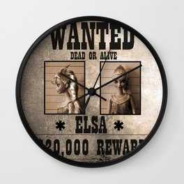 Elsa - Wanted Wall Clock