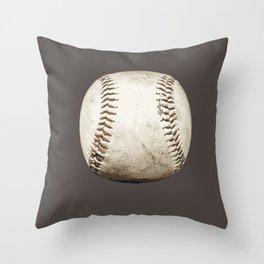 Big Baseball Illustration brown Throw Pillow