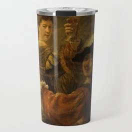 Rembrandt - Rembrandt and Saskia in the Scene of the Prodigal Son (1635) Travel Mug