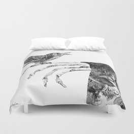 Death and the Nightingale Duvet Cover