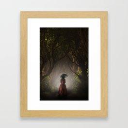 Satin red dress Framed Art Print