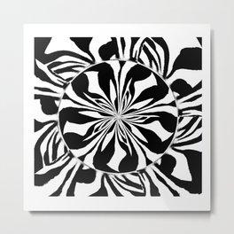 Zebra Kaleidoscope 3 XL Metal Print