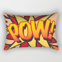Comic Book POW! Rectangular Pillow