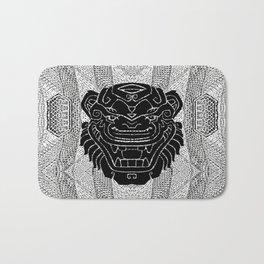 Black and White Cat Mask Bath Mat
