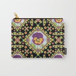 Purple Pansy Portrait Carry-All Pouch
