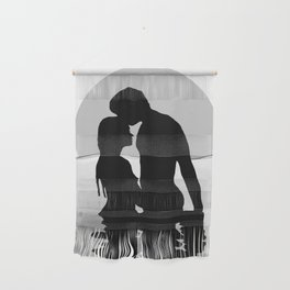 Lovers Black and White Wall Hanging