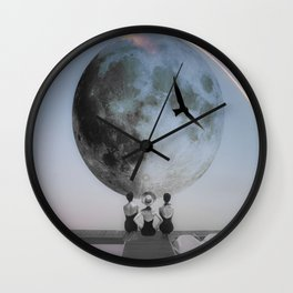 The moon will rise Wall Clock