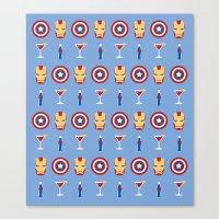 superheroes Canvas Prints featuring Superheroes by Kelslk