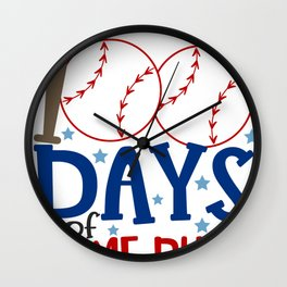 Best 100th Day of School Baseball 100 Days of Home Runs Wall Clock