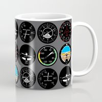 the mortal instruments Mugs featuring Flight Instruments by robyriker