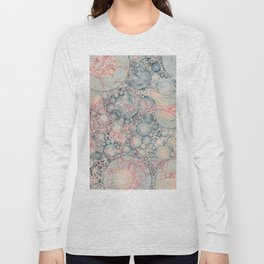 Vintage Bubble Cell Pattern Abstract Long Sleeve T-shirt