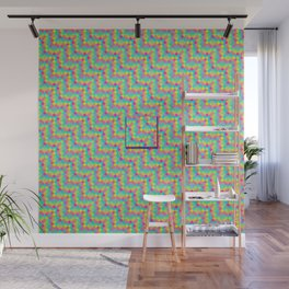 Pixelated colored squares background Wall Mural