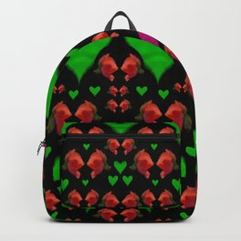 love hearts and roses Backpack