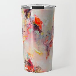 Psyche ○ pink rainbow modern abstract art Travel Mug