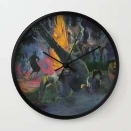 Upa Upa (The Fire Dance) by Paul Gauguin Wall Clock