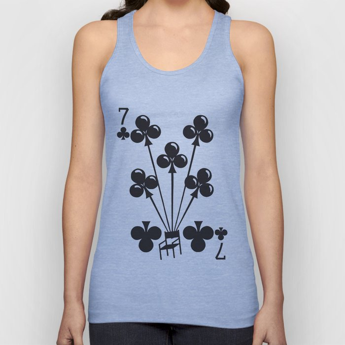 Curator Deck: The 7 of Clubs Unisex Tank Top