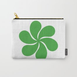 Green Paisley Floral Pattern Carry-All Pouch