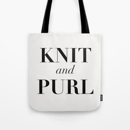 Knit & Purl Tote Bag