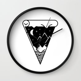 Slice of the melting night landscape Wall Clock