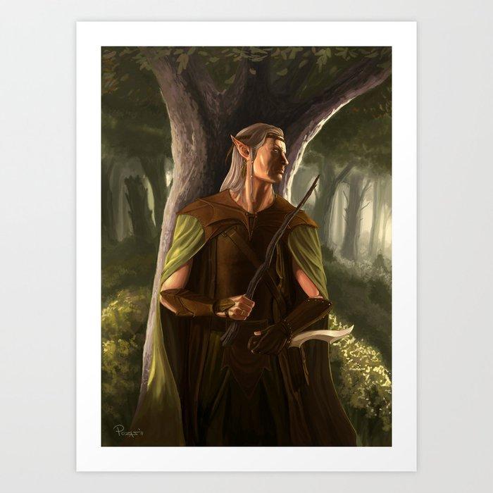 wood elf wizard art print by claudiopozas society6