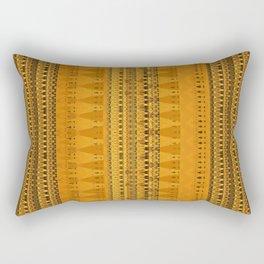 Golden Mustard Digital Woven Microprint Fabric Rectangular Pillow