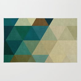 Harmonic colored pattern Rug