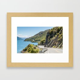 The Road to Queenstown, New Zealand Framed Art Print