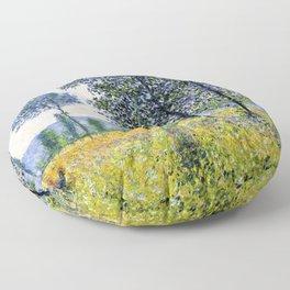 "Claude Monet ""Sunlight Effect under the Poplars"", 1887 Floor Pillow"