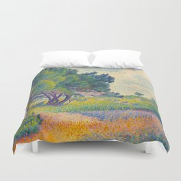 Small House at Saint Clair 1894 Henri-Edmond Cross Neo-Impressionism Pointillism Oil Painting Duvet Cover