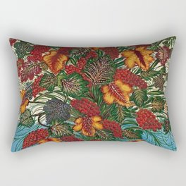 Grapes and Grape Leaves in Vase by Seraphine Louis Rectangular Pillow