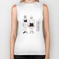 boxer Biker Tanks featuring boxer by nena