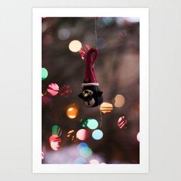 Penguin Santa Photography Print Art Print