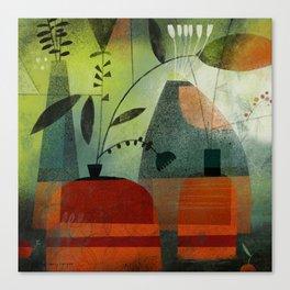 LAYERED VASES Canvas Print