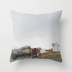 Nyksund, Lofoten Throw Pillow