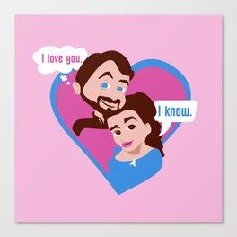 "Troi and Riker: Imzadi Love: ""I love you."" ""I know."" Canvas Print"