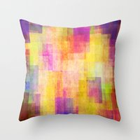 carnival Throw Pillows featuring Carnival by SensualPatterns